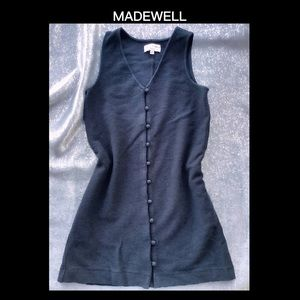 MADEWELL XS Black Button Up Top
